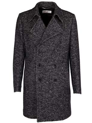 Saint Laurent Chevron Caban Coat