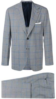 Kiton checked suit