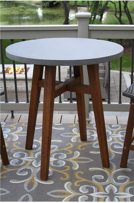 Outdoor Interiors Round Top & Eucalyptus Table