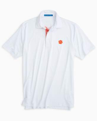 Southern Tide Clemson Tigers Plaid Placket Polo Shirt