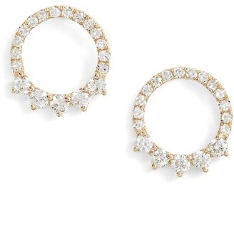 Women's Ef Collection Floating Open Circle Stud Earrings $825 thestylecure.com