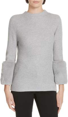 Ted Baker Klairia Faux Fur Cuff Sweater