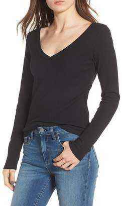 BP Ribbed V-Neck Tee (Regular & Plus Size)