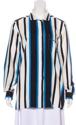Dolce & Gabbana Stripe Silk Blouse