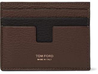 Tom Ford Two-Tone Full-Grain Leather Cardholder