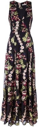 Alice+Olivia floral embroidered gown $765.68 thestylecure.com