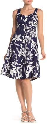 Taylor Floral Button Front Midi Dress