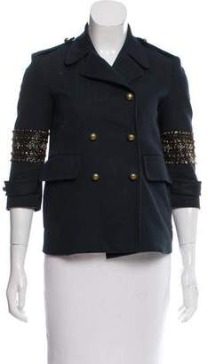 Gryphon Beaded Double-Breasted Jacket