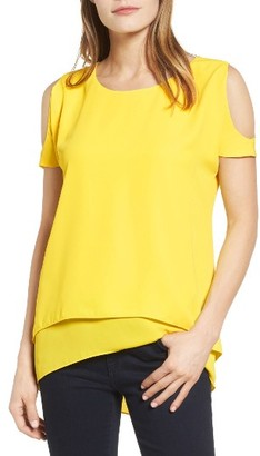Women's Chaus Cold Shoulder Layered Blouse $69 thestylecure.com