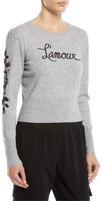 Cinq à Sept Kian Embellished Graphic Pullover Sweater