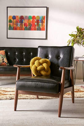Wyatt Faux Leather Arm Chair