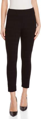 Premise Studio Petite Black Plaid Pull-On Pants