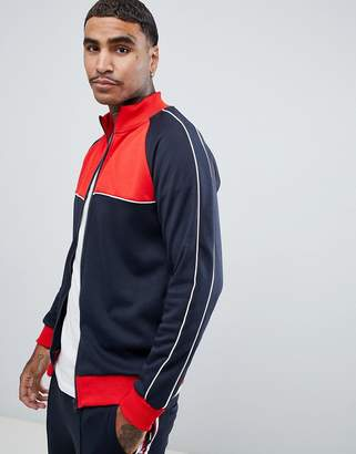 ONLY & SONS Track Jacket With Color Blocking