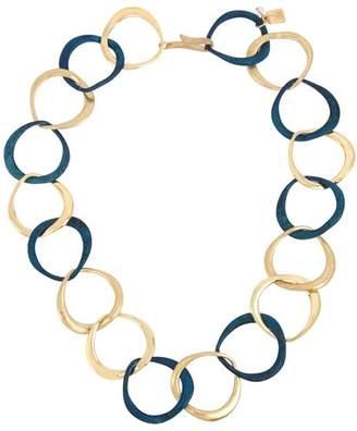 "Robert Lee Morris Soho Sculptural Link Collar Necklace, 18"""