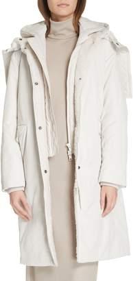 Vince Faux Fur Trim Puffer Coat