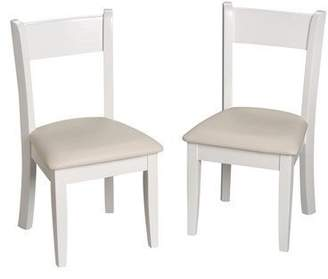Gift Mark Children's Chair Set with Upholstered Seat, White by