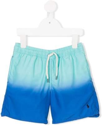 Ralph Lauren Kids dégradé drawstring swim shorts