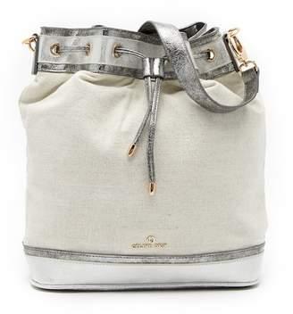 Celine Dion Soft Metallic Convertible Backpack