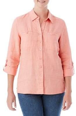 Olsen Linen Button-Down Shirt