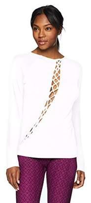 Trina Turk Women's Soft Knit Scoop Neck Wrap Tee