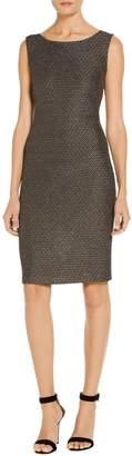 St. John Stitch Jacquard Knit Dress