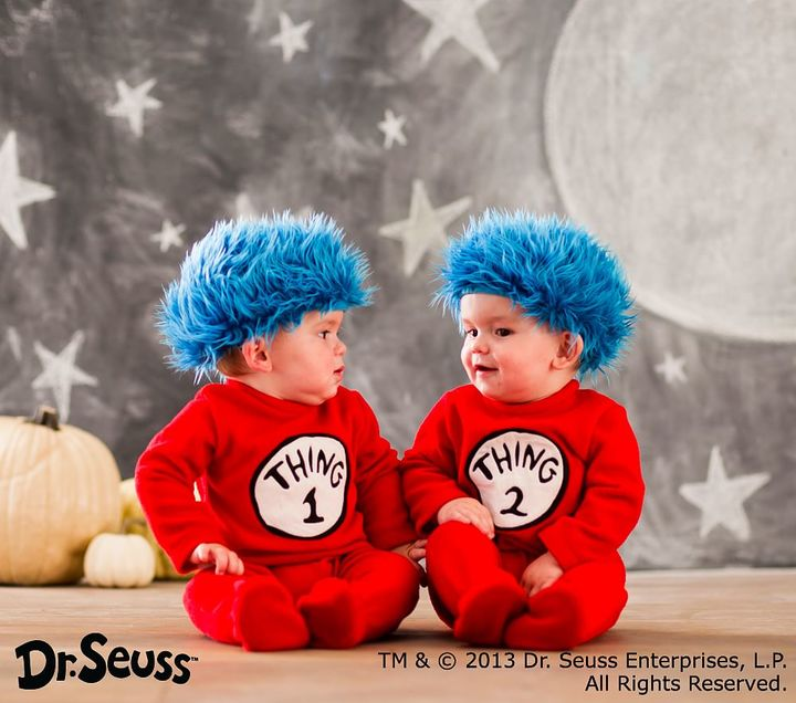 Pottery Barn Kids Toddler Dr. Seuss's Thing 1 and Thing 2 Costume