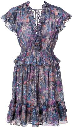 Rebecca Taylor floral flared mini dress