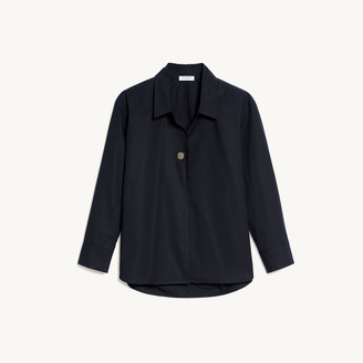 Sandro Oversized shirt with fancy button