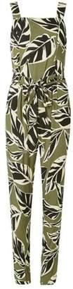 Dorothy Perkins Womens Khaki Safari Print Jumpsuit