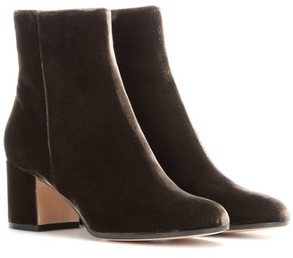 Gianvito Rossi Margaux Mid velvet ankle boots