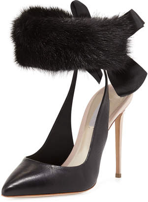 Olgana Paris La Magicienne Mink Cuff Pumps
