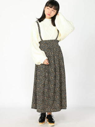 WEGO (ウィゴー) - BROWNY BROWNY/(L)サスツキフラワーロングスカート ウィゴー スカート