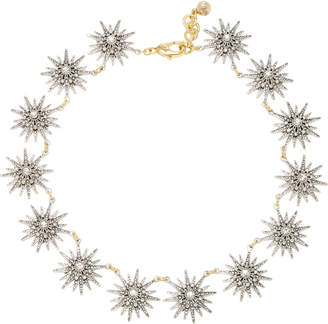 Lulu Frost Radiant Silver and Gold-Plated Brass Glass Stone Necklace