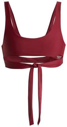 JADE SWIM Bond tie straps bikini top