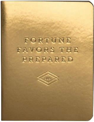 Chronicle Books クロニクルブックス(ChronicleBooks) 日付なしプランナー FORTUNE FAVORS THE PREPARED ゴールド
