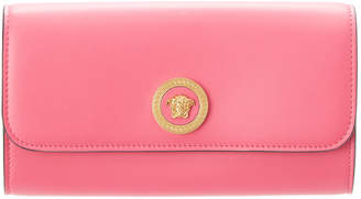 Versace Medusa Tribute Leather Continental Wallet