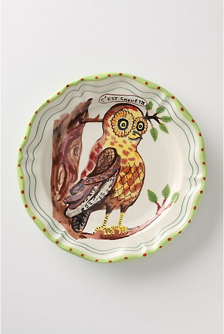De Vincennes Dinner Plate, Owl