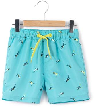 La Redoute Collections Scuba Diver Printed Swim Shorts, 3-12 Years