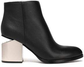 Alexander Wang Gabi Two-Tone Leather Ankle Boots