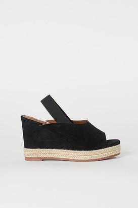 H&M Suede Sandals - Black