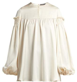 Alexander McQueen Silk Blouse - Womens - Ivory