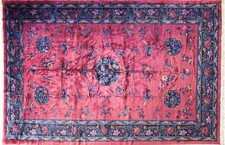 """One Kings Lane Vintage 10' x 15'6"""" Manchester Wool Art Deco Rug - Eli Peer Oriental Rugs"""