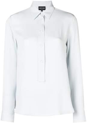 Giorgio Armani (ジョルジョ アルマーニ) - Giorgio Armani long-sleeve fitted blouse