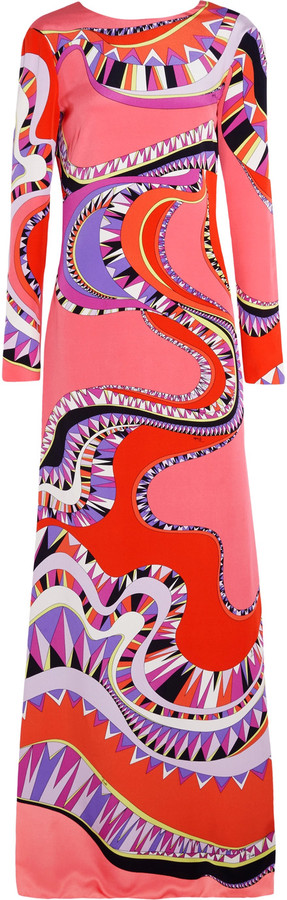 Emilio PucciEmilio Pucci Cutout printed silk-jersey gown