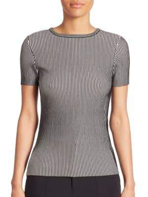 Opening Ceremony Short Sleeve Striped Top