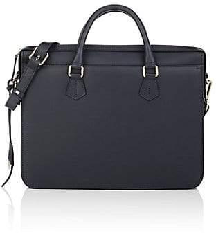 Boldrini Selleria Men's Leather Briefcase - Navy