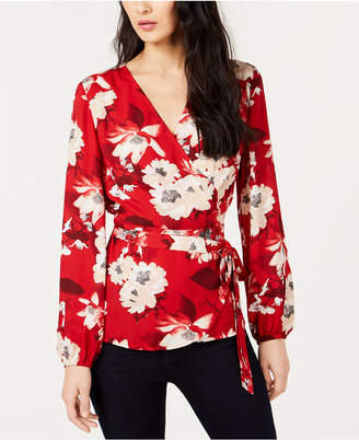 INC International Concepts I.N.C. Printed Wrap Top, Created for Macy's