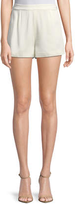 Alexis Leala High-Waist Pleated Shorts