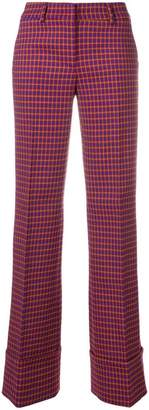 L'Autre Chose checked flared trousers