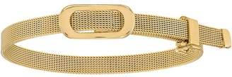 "Italian Gold 7"" Oval Buckle Adjustable Bracelet14K, 12.0g"